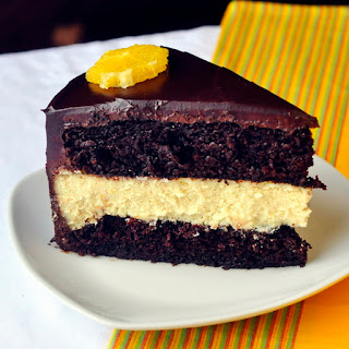 Chocolate Orange Cheesecake Layer Cake