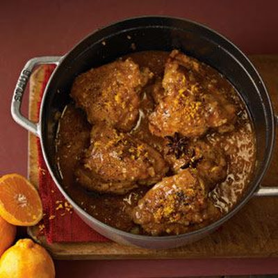 Braised Chicken with Quick Preserved Lemons