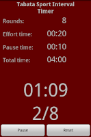 Screenshot of Tabata Sport Interval Timer