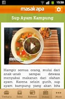 Screenshot of Masak Apa