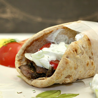 Leg of Lamb Gyro with Tzatziki Sauce