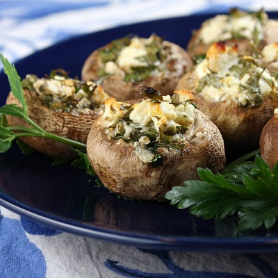 Feta- Stuffed Mushrooms