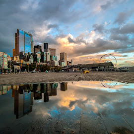 by Larry Rogers - City,  Street & Park  Skylines