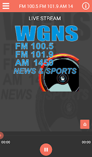 WGNS Radio - screenshot
