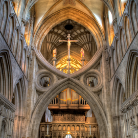 Altar At Wells Catheral  by Simon Eastop - Buildings & Architecture Places of Worship ( wells, interior, somerset, cathedral, alter )