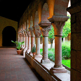 Cloisters by Frank DeChirico - Buildings & Architecture Architectural Detail