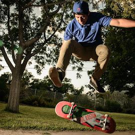 Air by Shayne Gelo - People Portraits of Men ( skateboarding, flash, air, skateboard, jump )