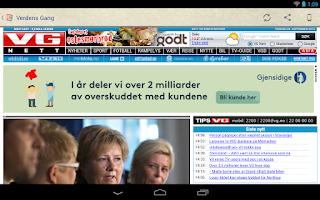 Screenshot of Norske Aviser