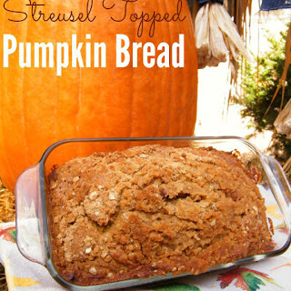 Cinnamon Streusel Topped Pumpkin Bread Recipes