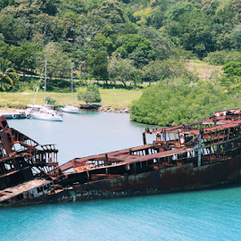 Ship Wreck  by Ellee Neilands - Transportation Boats ( shipwreck, ship, derelict, transportation, boat,  )
