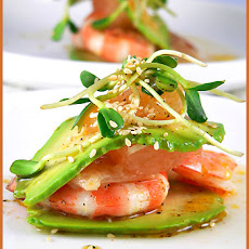 Avocado and Grapefruit Millefeuille