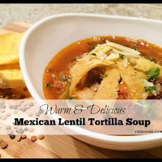 Mexican Lentil Tortilla Soup