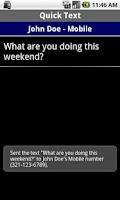 Screenshot of Quick Text Free