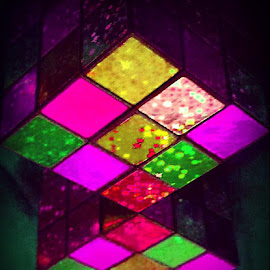 Pink Explosion, Squared by Cecilia Sterling - Artistic Objects Toys ( reflection, rubix, cubed, pink, cube,  )