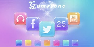 Screenshot of Gemstone GO Launcher Theme