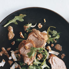 Pork Tenderloin with Arugula Endive and Walnut Vinaigrette