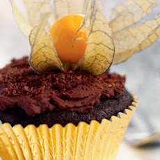 Chocolate And Physalis Cupcakes
