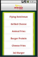 Screenshot of In-N-Out Secret Menu