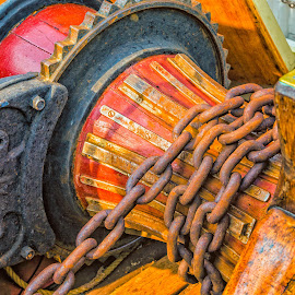 Winch and Chain by Robert Peterson - Artistic Objects Industrial Objects ( sailing, chain, ship, winch, pride of baltimore, sailboat, schooner )
