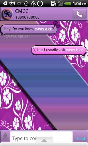 GO SMS THEME FlowersGalore5
