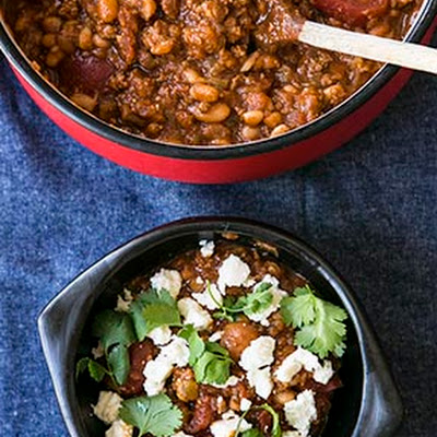 Cherry Peach Pumpkin Chili