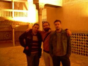 juan, angel y yo en la alhambra, granada
