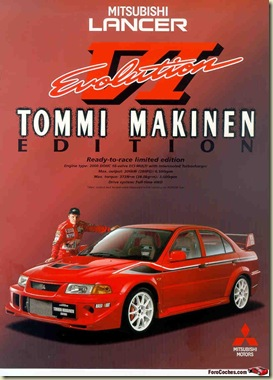 Mitsubishi Lancer Evolution VI GSR TOMMI MAKINEN Edition