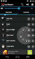 Screenshot of Scary Ringtones