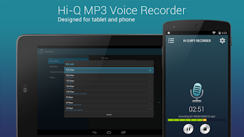 Screenshot of Hi-Q MP3 Voice Recorder (Free)