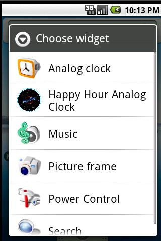 Happy Hour Clock Widget