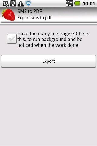 SMS to PDF