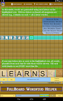 Screenshot of Wordfeud Solver Helper Trainer