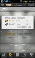 Screenshot of Gold Silver Vault