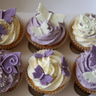 Lemon Filled Lavender Cupcakes