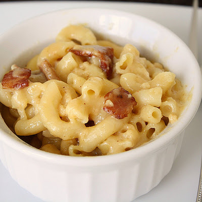 Three-Cheese and Bacon Macaroni