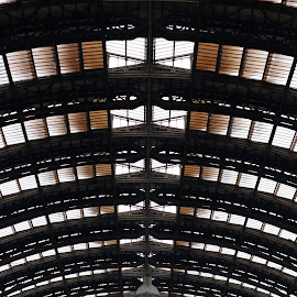 Milano railway Station by Muhndoo Sa - Buildings & Architecture Other Interior ( station, train, architecture, italy, design, repetition, Architecture, Ceilings, Ceiling, Buildings, Building )