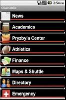 Screenshot of CUAmobile