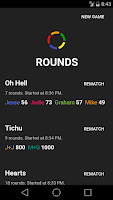 Screenshot of Rounds — score pad