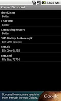 Screenshot of iSMS2droid (iPhone SMS Import)