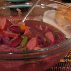 Red Cabbage and Sausage Soup