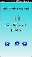 Screenshot of Neo Hearing Age Test (free)