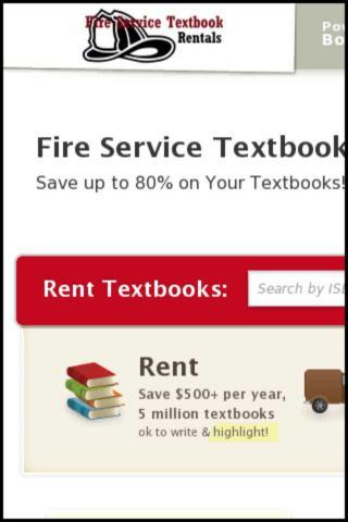 Fire Service Book Rentals