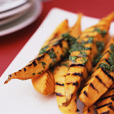 Grilled Sweet Potatoes with Lime Cilantro Vinaigrette