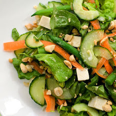 Chilled Tofu Salad with Miso-Ginger Vinaigrette Recipe