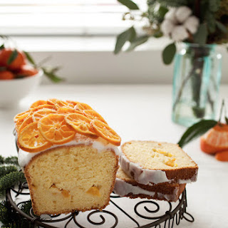 Mango and Passion Fruit Cake with a Clementine Garnish