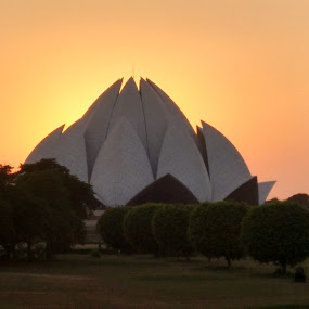 lotus temple by Soumen Das - Landscapes Sunsets & Sunrises