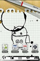 Screenshot of Notebook GO Launcher Theme
