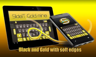 Screenshot of SlideIT Gold Mine Skin