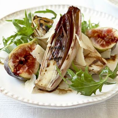 Griddled Chicory With Figs & Bitter Leaves