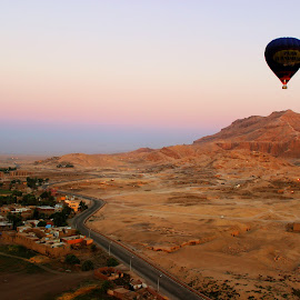 Valley of kings by Manik Sarna - Landscapes Deserts ( #egypt #summers #kings #valley #desert #sunrise #baloon )